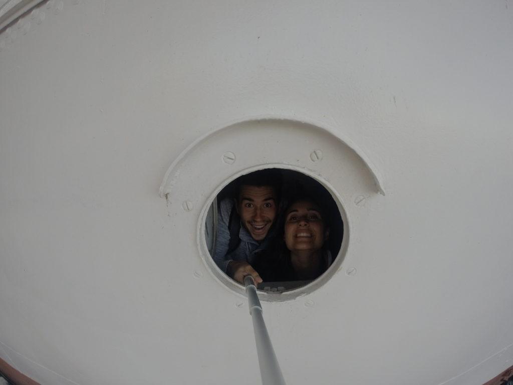 Musée maritime La Rochelle selfie bateau hublot blog voyage les p'tits touristes
