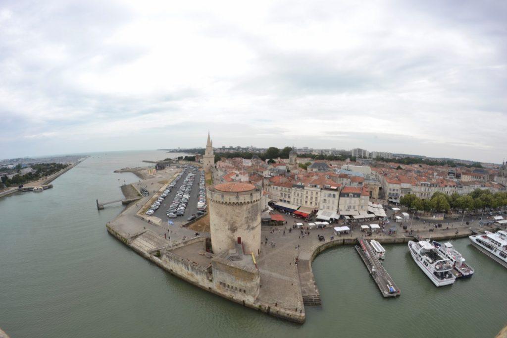 Vue Tour Saint Nicolas panoramique La Rochelle blog voyage les p'tits touristes