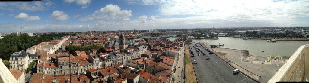 Vue Tour de la Lanterne La Rochelle panoramique blog voyage les p'tits touristes