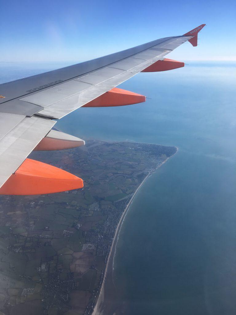 Vue avion Londres blog voyage les p'tits touristes