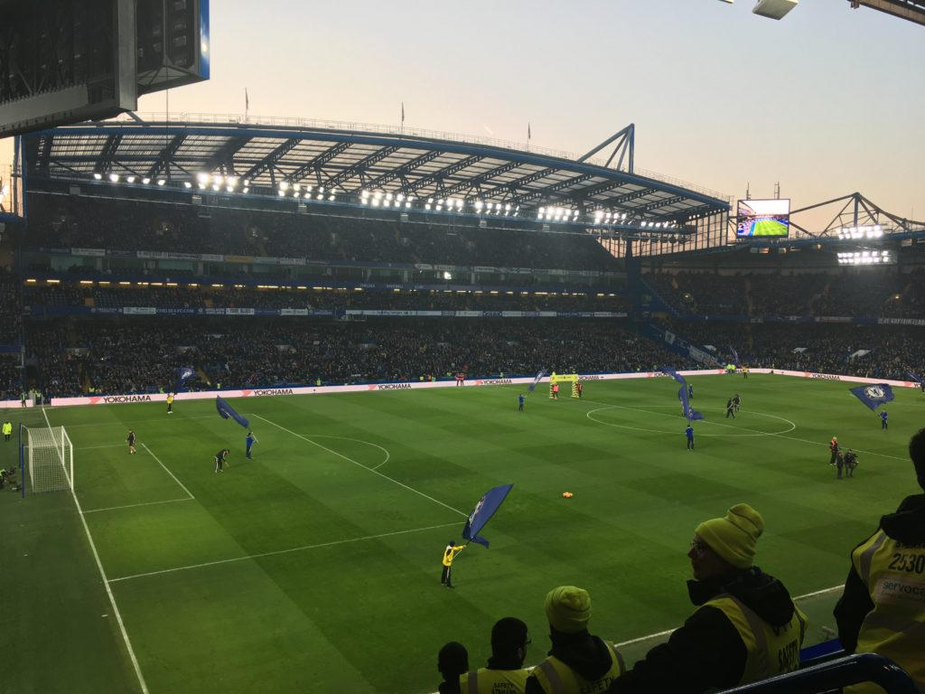 Stamford Bridge Chelsea football match London Londres blog voyage les p'tits touristes