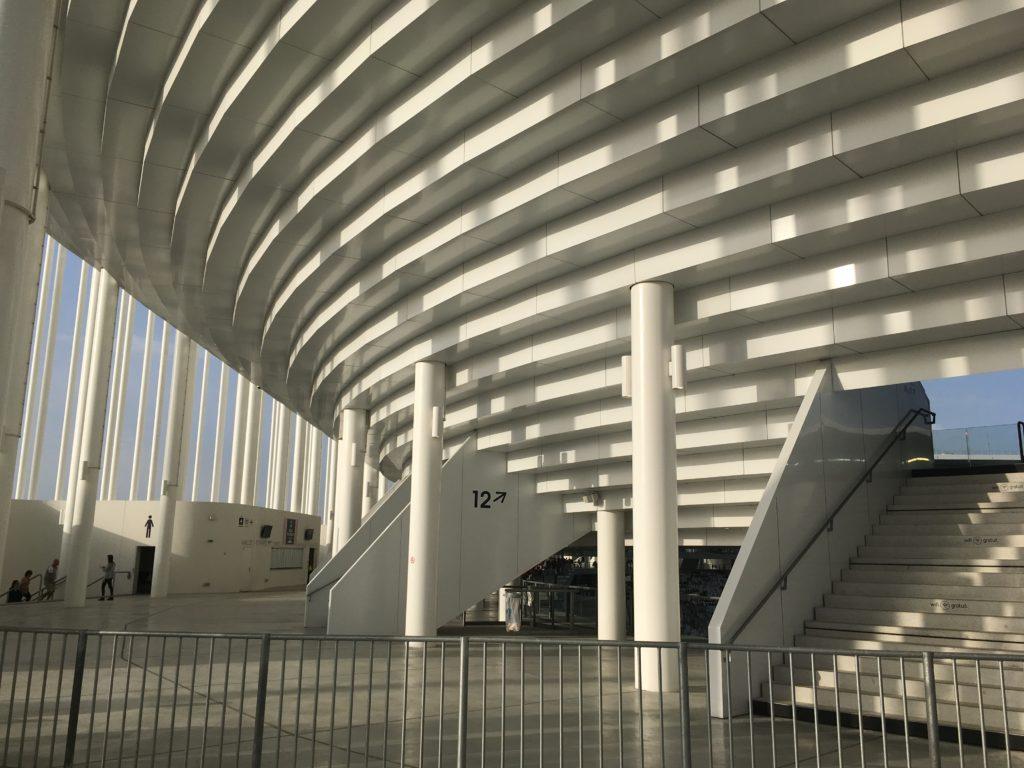 Matmut Atlantique coursive architecture Foot à Bordeaux girondins de Bordeaux blog voyage les p'tits touristes